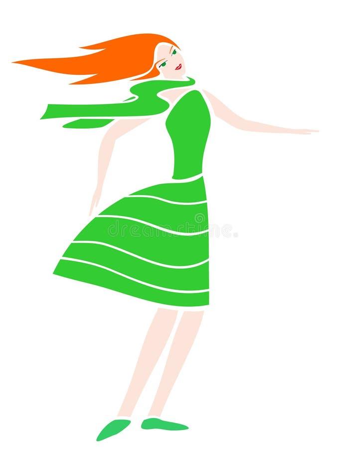 Mujer de la belleza libre illustration