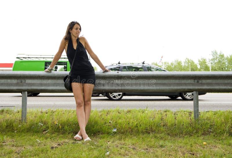 Mujer de la carretera fotografía de archivo