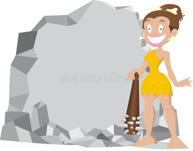 Mujer de la cueva stock de ilustración