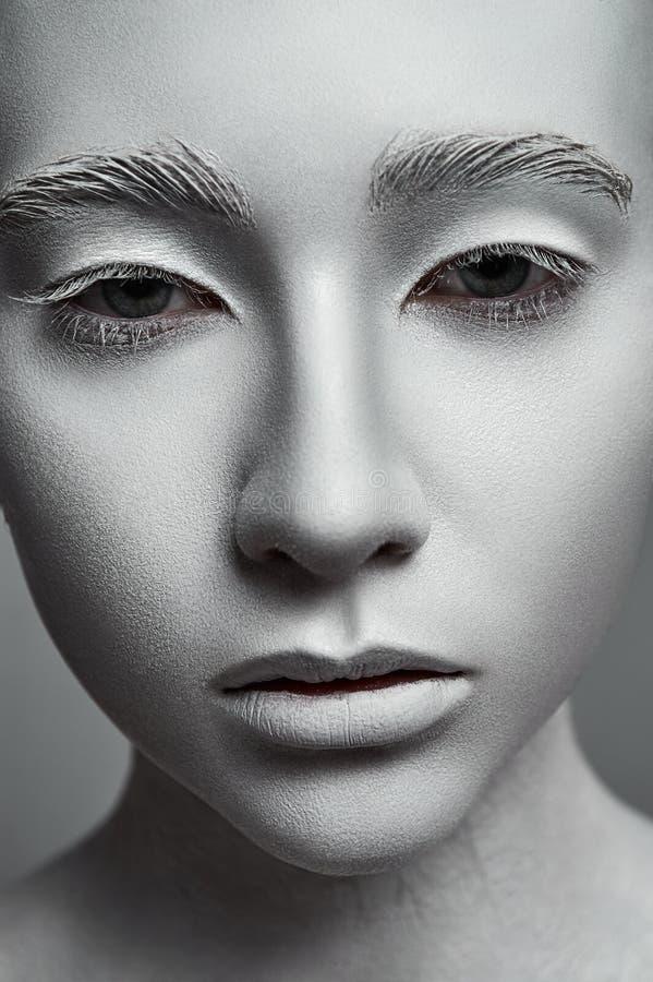 Mujer de la escultura Modelo de moda con la piel perfecta imágenes de archivo libres de regalías