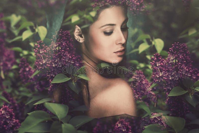 Mujer de la fantasía foto de archivo