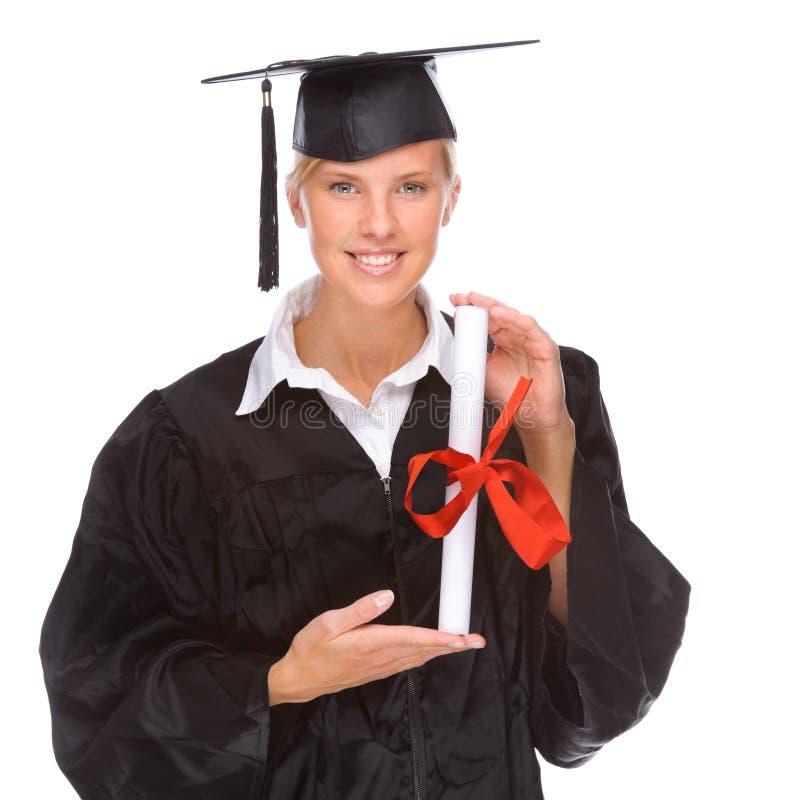 Mujer de la graduación fotografía de archivo libre de regalías