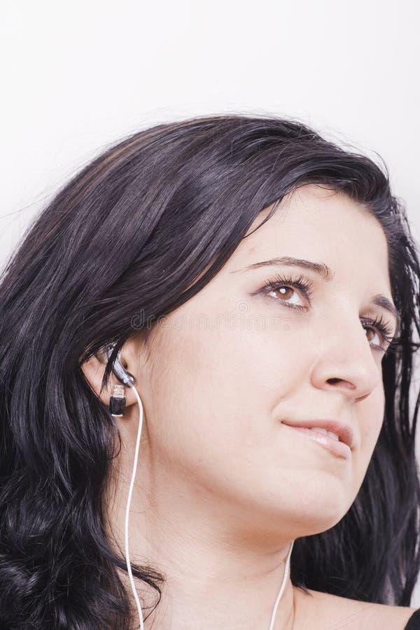 Mujer de la música fotos de archivo libres de regalías