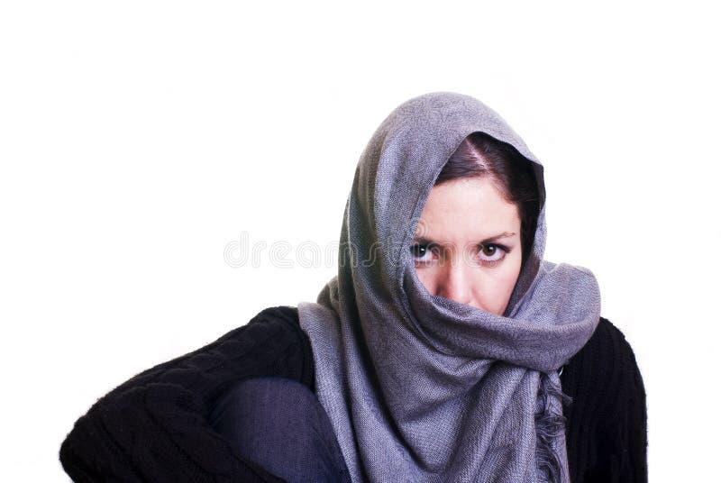 Mujer de la muselina imagenes de archivo