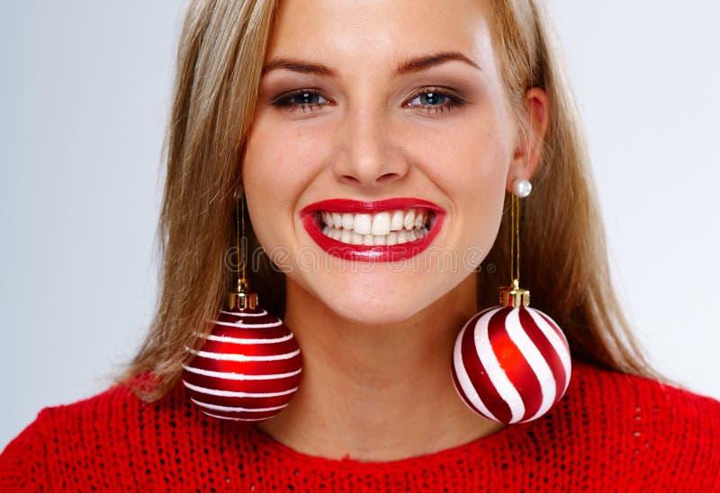 Mujer de la Navidad imagen de archivo libre de regalías