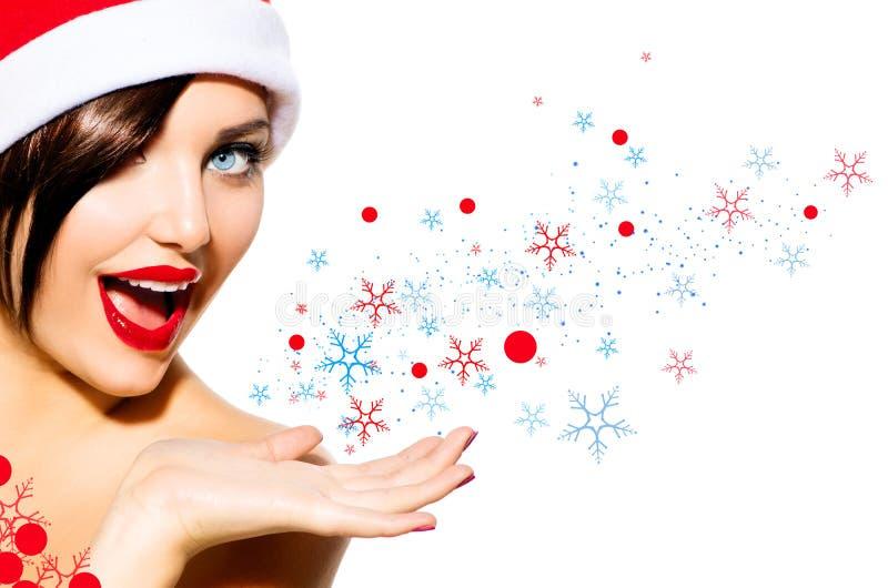 Mujer de la Navidad imágenes de archivo libres de regalías