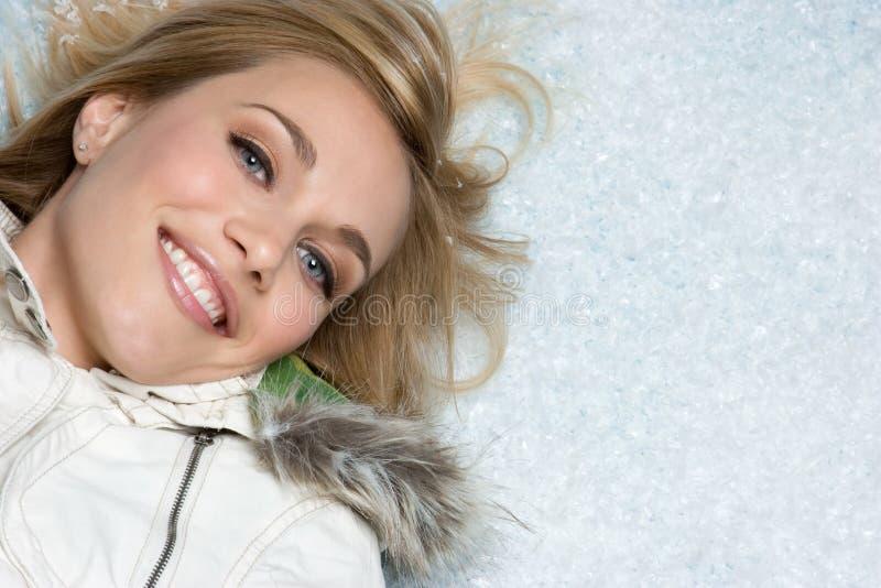 Mujer de la nieve imagen de archivo libre de regalías