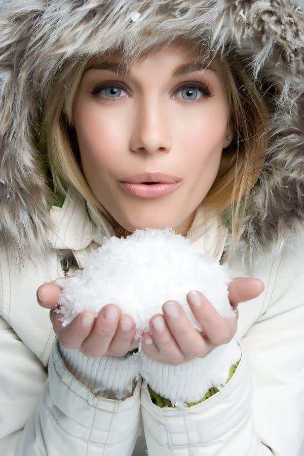 Mujer de la nieve fotografía de archivo libre de regalías