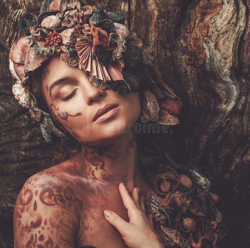 Mujer de la ninfa fotografía de archivo