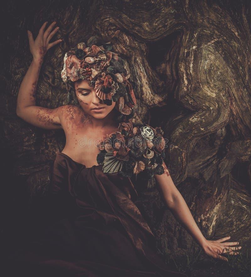Mujer de la ninfa imagen de archivo
