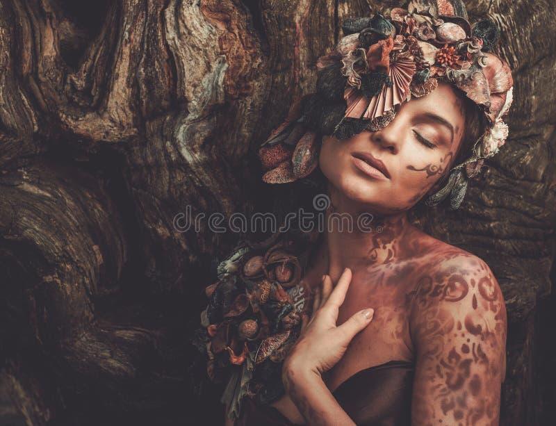 Mujer de la ninfa fotos de archivo