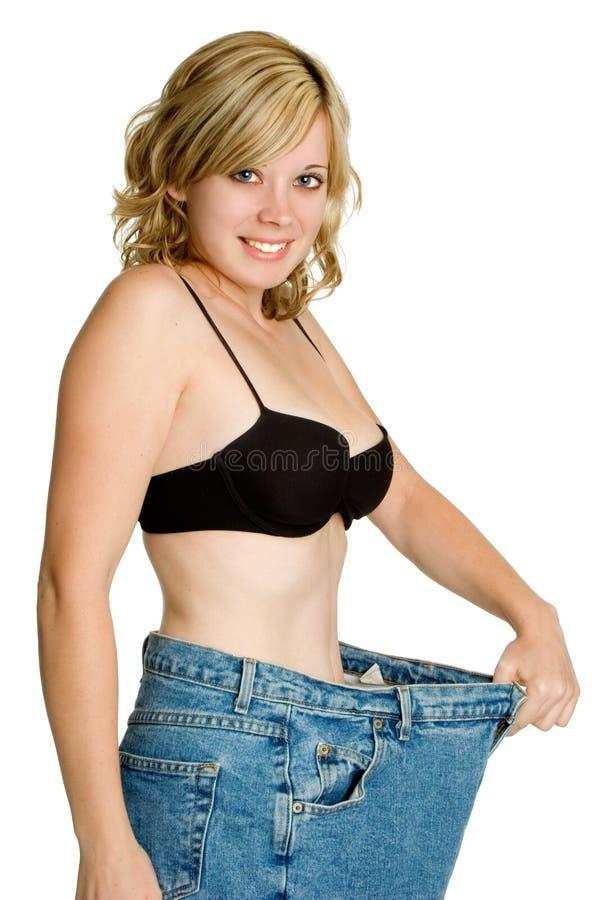 Mujer de la pérdida de peso fotografía de archivo