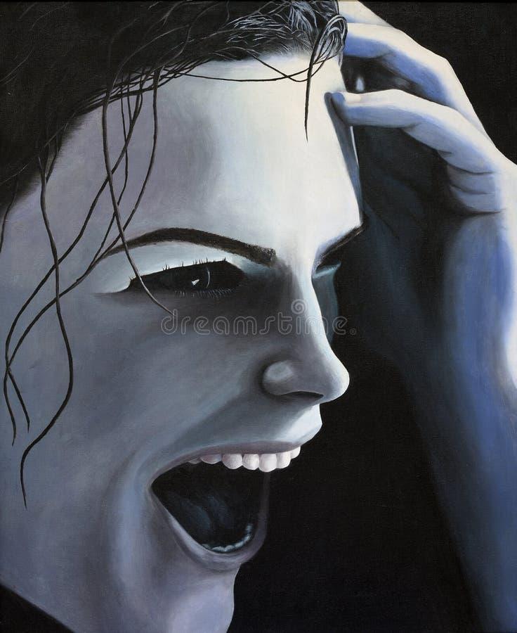 Mujer de la pintura feliz ilustración del vector