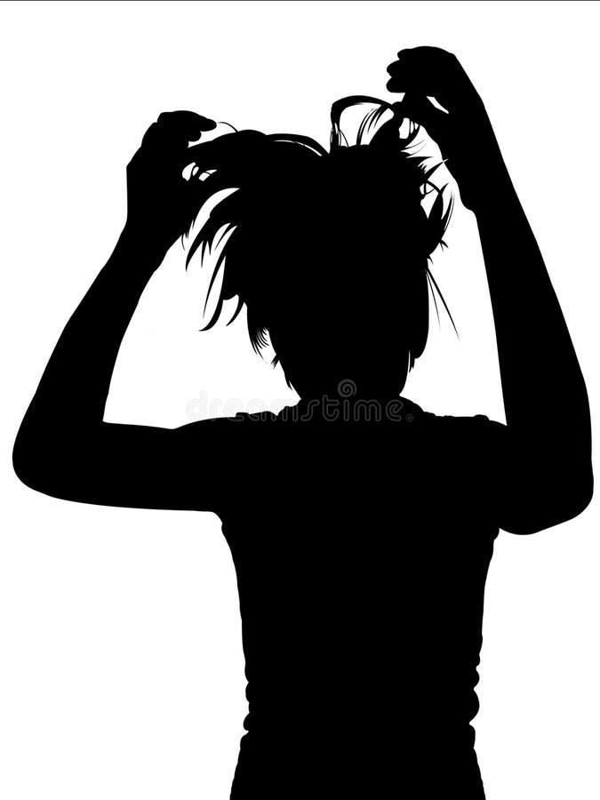 Mujer de la silueta stock de ilustración
