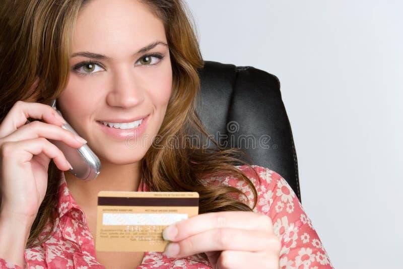 Mujer de la tarjeta de crédito fotos de archivo libres de regalías
