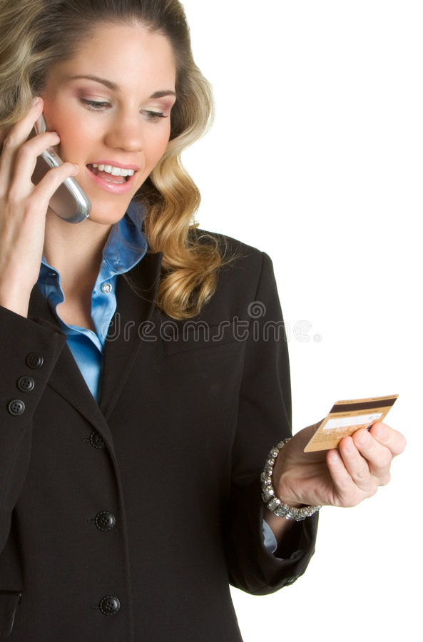 Mujer de la tarjeta de crédito fotografía de archivo libre de regalías