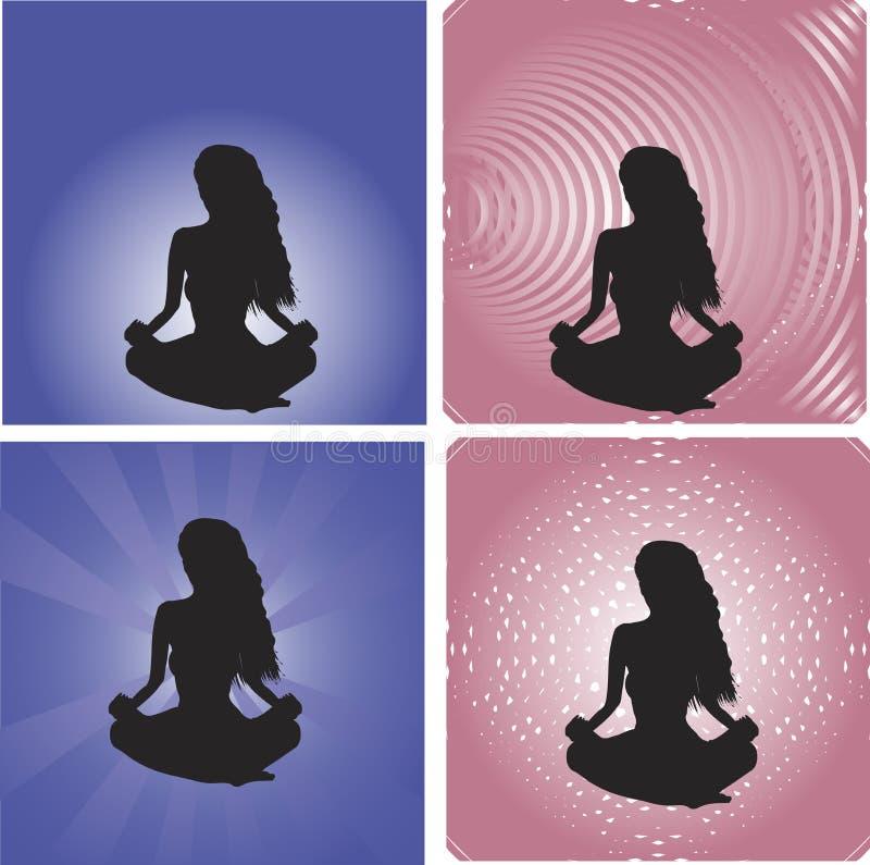 Mujer de la yoga libre illustration