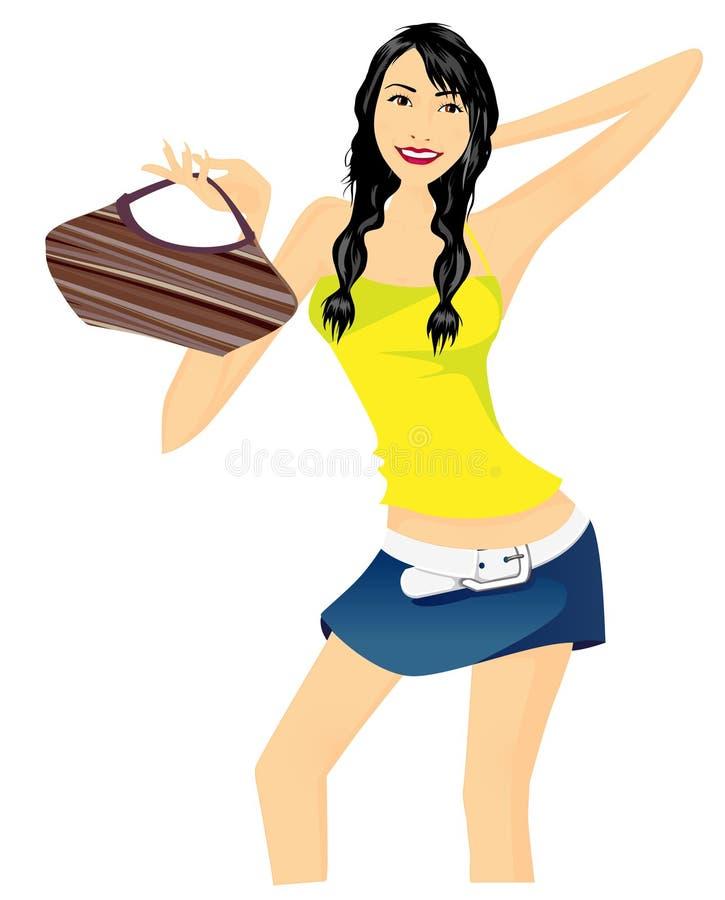 Mujer de las compras ilustración del vector