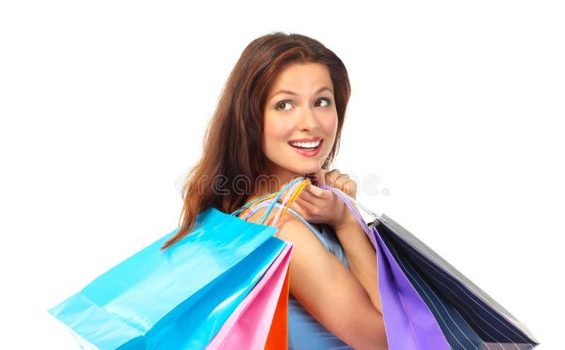 Mujer de las compras foto de archivo