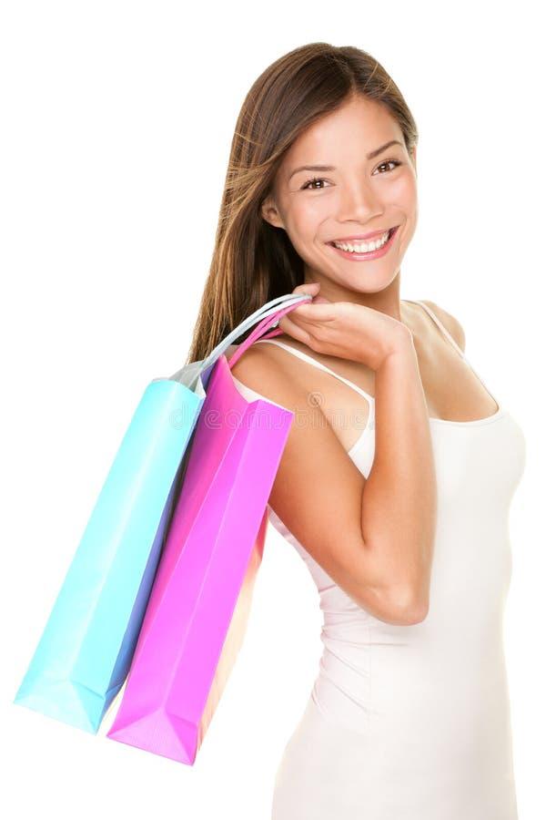 Mujer de las compras fotos de archivo libres de regalías