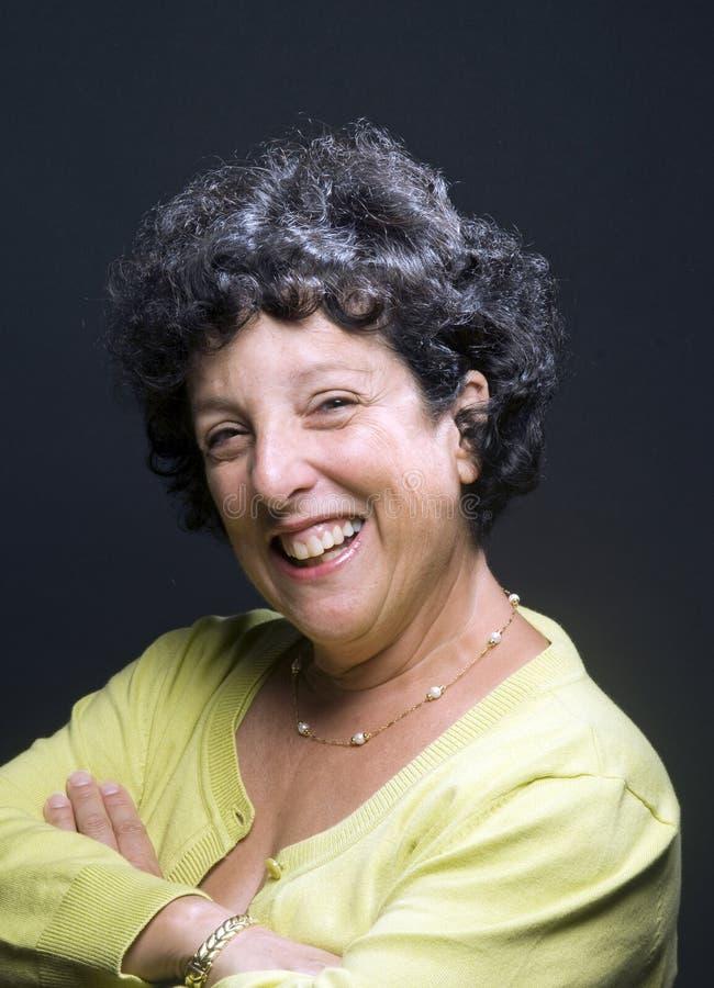 Mujer de los businees del ejecutivo 'senior' foto de archivo