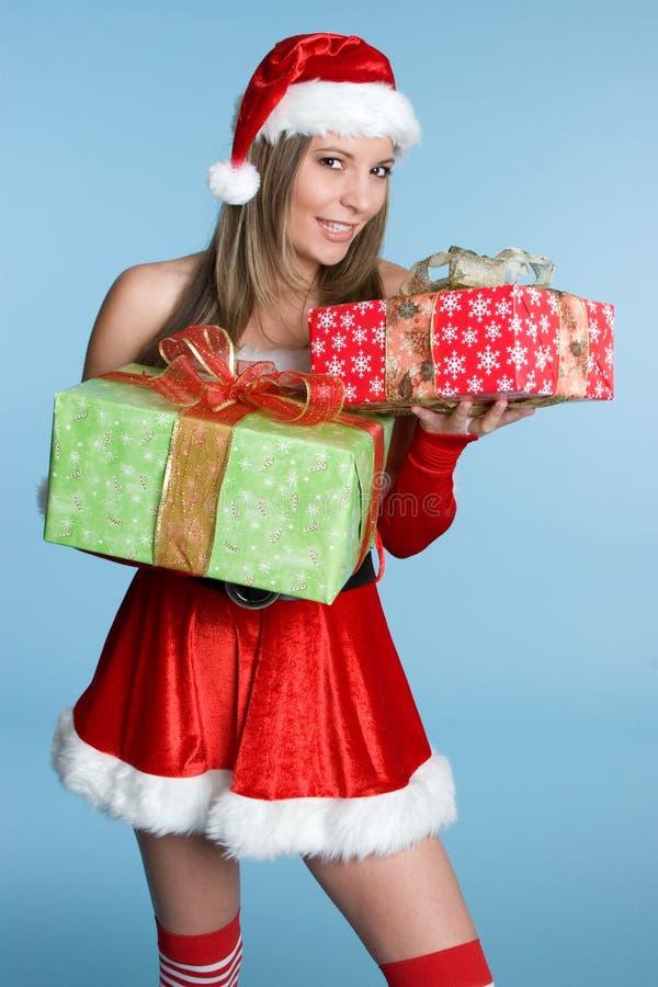 Download Mujer De Los Regalos De Navidad Foto de archivo - Imagen de gente, claus: 7288678
