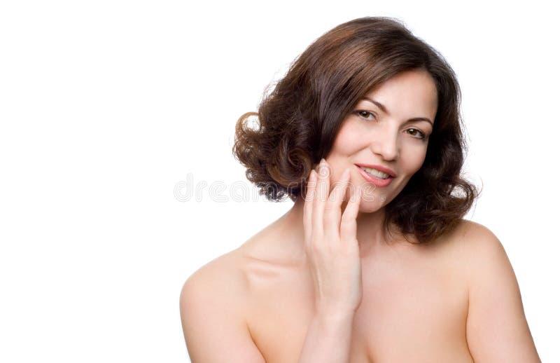 Mujer de mediana edad hermosa foto de archivo libre de regalías