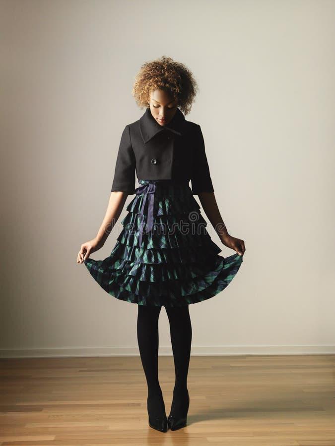 Mujer de moda foto de archivo libre de regalías