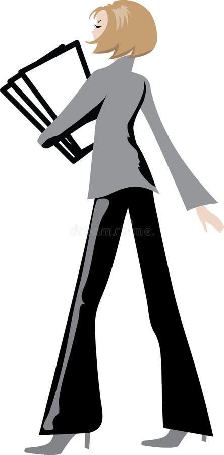 Mujer de negocios 1 stock de ilustración