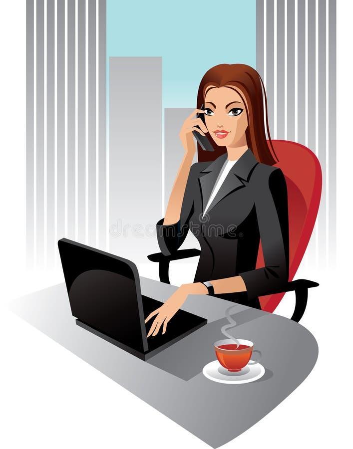 Mujer de negocios stock de ilustración