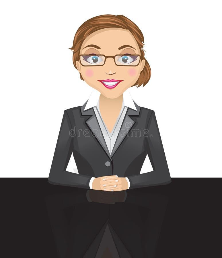 Mujer de negocios - 2 stock de ilustración