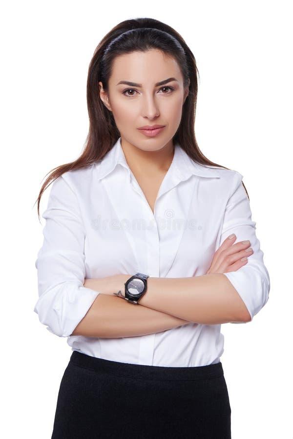 Mujer de negocios acertada imagenes de archivo