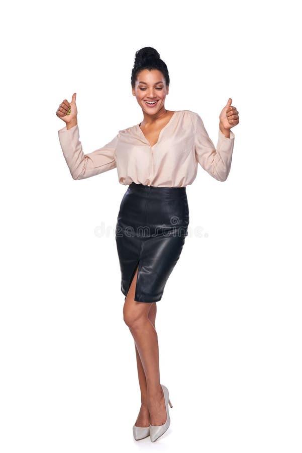 Mujer de negocios acertada confiada foto de archivo libre de regalías