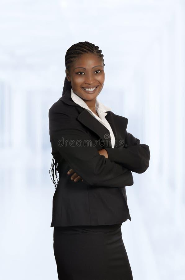 Mujer de negocios africana aislada fotografía de archivo libre de regalías