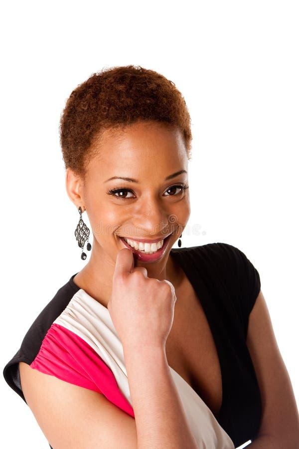 Mujer de negocios africana sonriente hermosa fotos de archivo