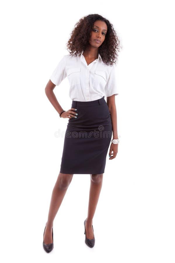 Mujer de negocios afroamericana joven - gente africana imágenes de archivo libres de regalías