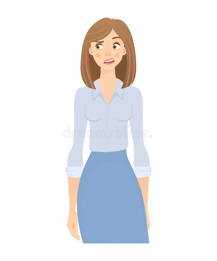 Mujer de negocios aislada libre illustration