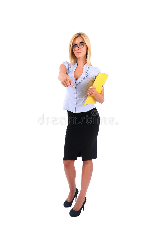 Mujer de negocios aislada imagen de archivo libre de regalías