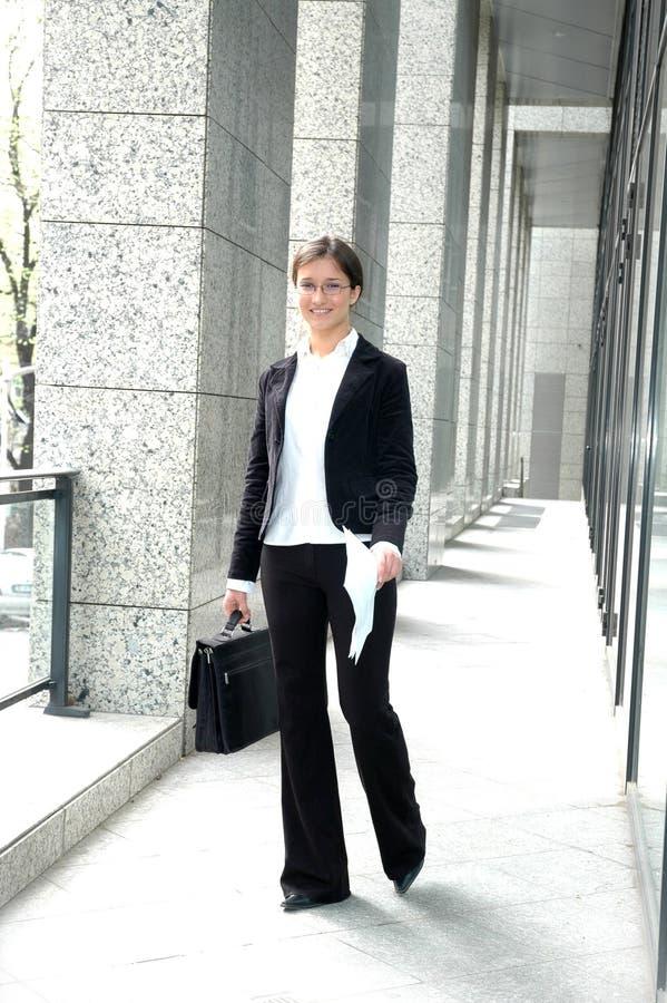 Mujer de negocios alegre foto de archivo libre de regalías