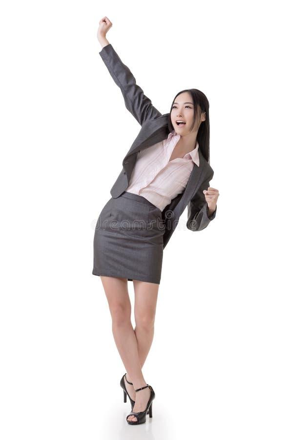 Mujer de negocios alegre foto de archivo
