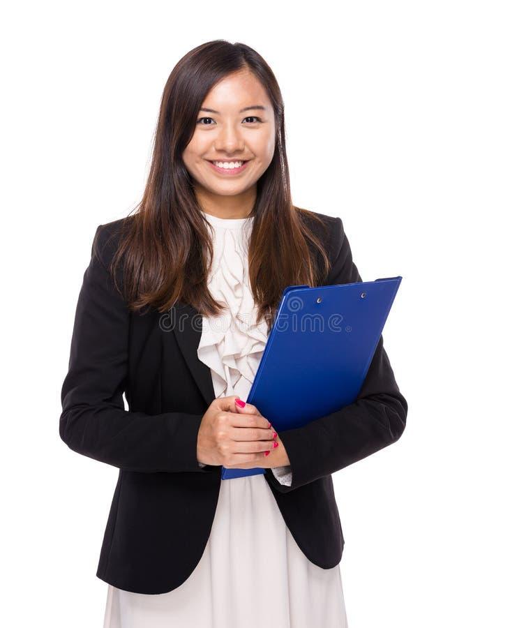 Download Mujer De Negocios Asiática Con El Tablero Imagen de archivo - Imagen de feliz, ejecutivo: 42442975