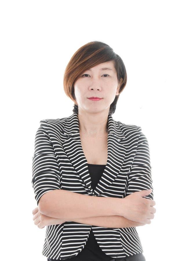 Mujer de negocios asiática elegante fotos de archivo