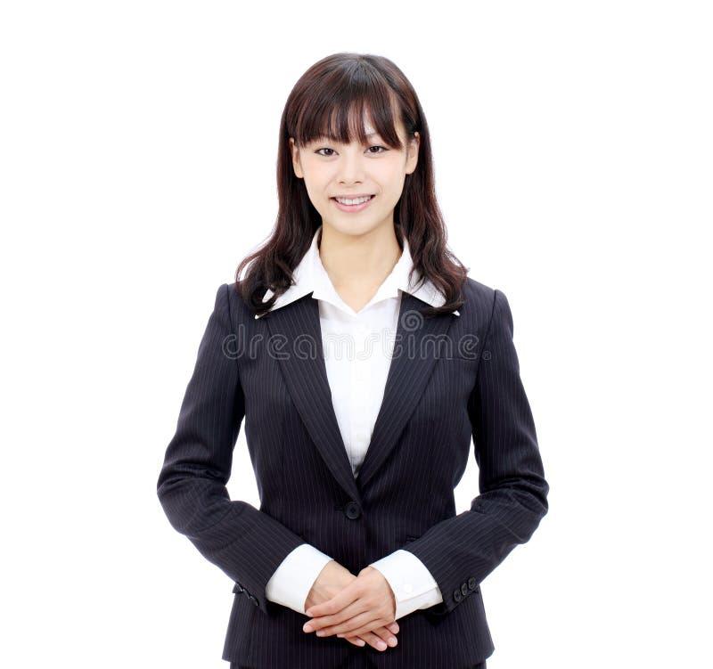 Mujer de negocios asiática joven imagenes de archivo
