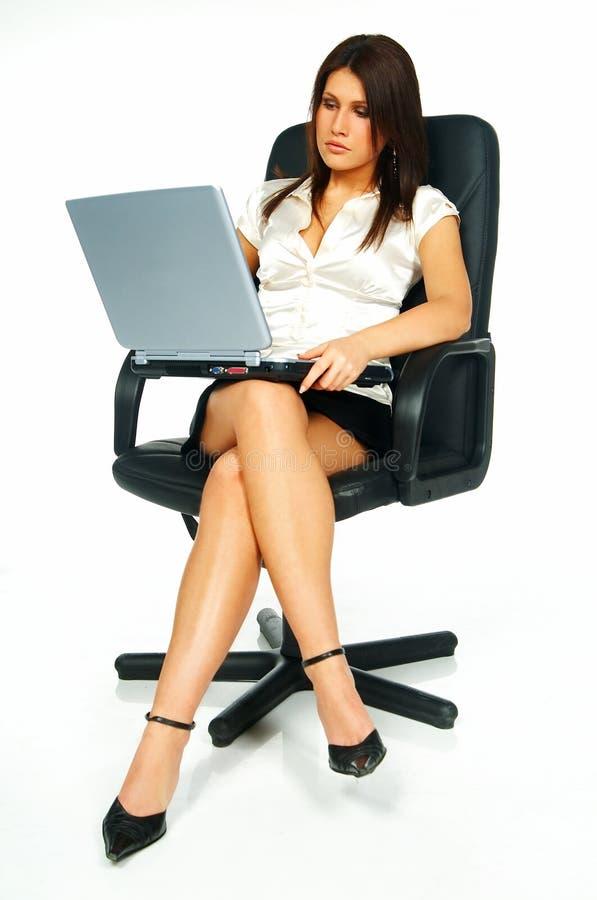 Mujer de negocios atractiva fotografía de archivo libre de regalías