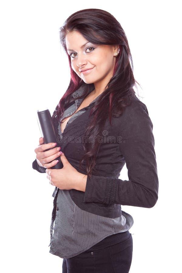 Mujer de negocios atractiva joven imagen de archivo