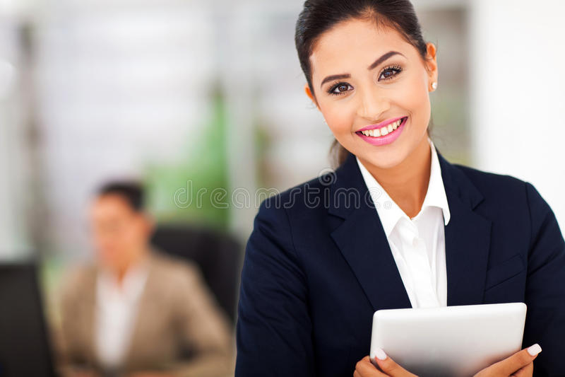 Ordenador de la tableta del negocio foto de archivo