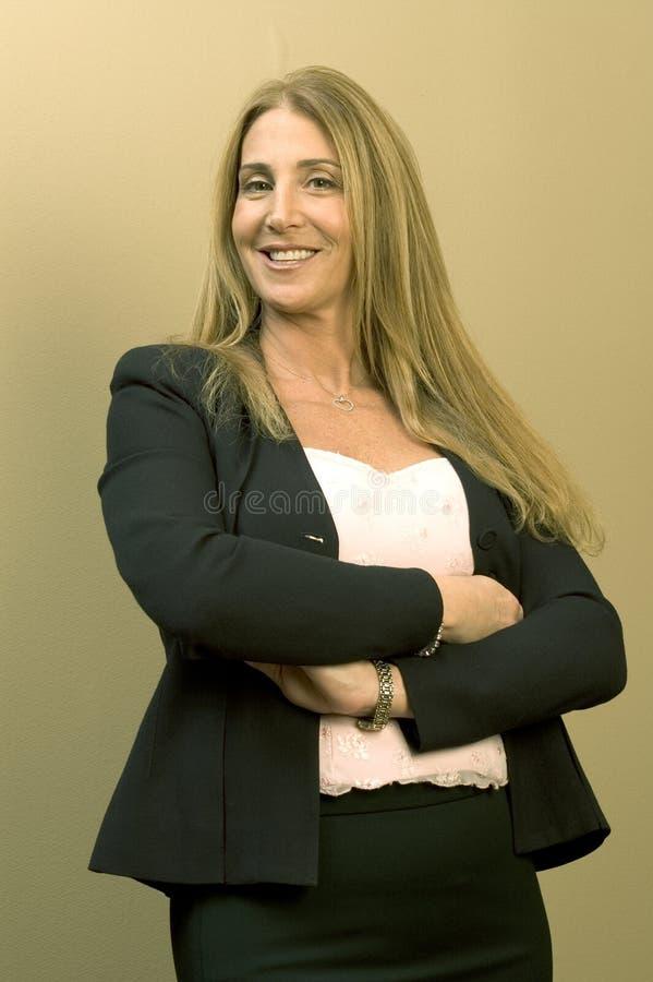 Mujer de negocios bonita fotografía de archivo