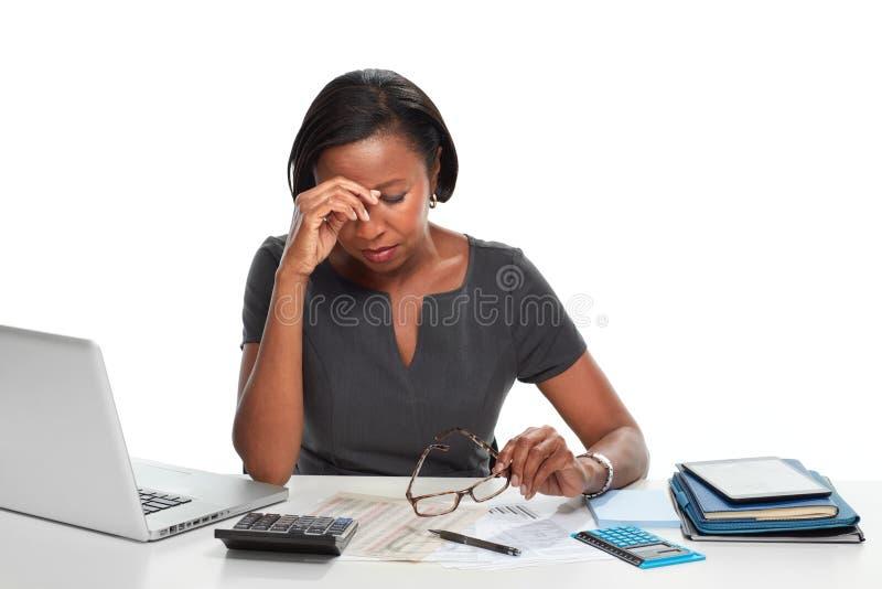 Mujer de negocios cansada imágenes de archivo libres de regalías