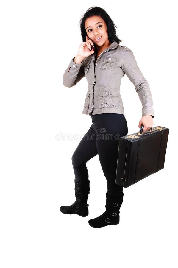 Mujer de negocios con la cartera. fotos de archivo