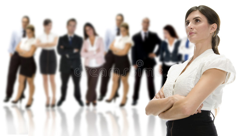 Mujer de negocios con sus personas imagen de archivo libre de regalías